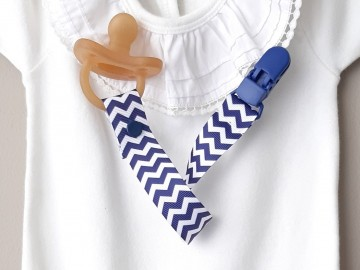 Pacifier Holder | NAVY BLUE + Choose the Clip