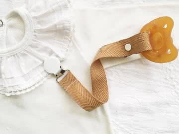 Pacifier Holder | Camel + Choose a Clip