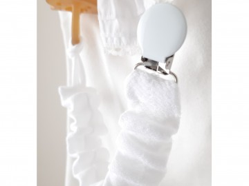 Pacifier Holder BEDTIME (WHITE)