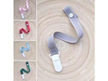 Pacifier Holder  | Stiched - CHOOSE A COLOR AND CLIP