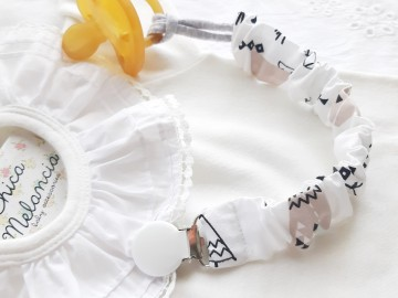 Pacifier Holder TEE-PEE BLACK &WHITE