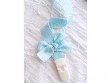Pacifier Holder | Twill + White Clip + Bow (choose a color)