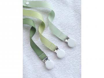Pacifier Holder | Green + White Clip | CHOOSE A COLOR