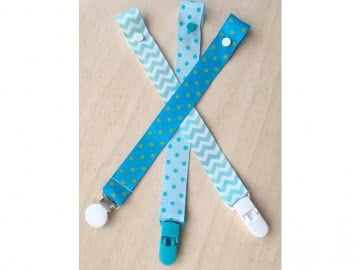 Value Pack - 3 Pacifier Holder | Blue and Green