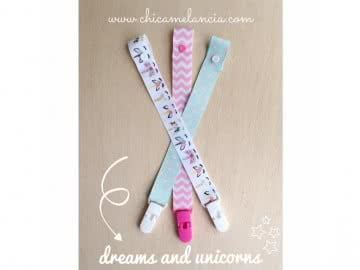 Value Pack - 3 Pacifier Holder | DREAMS AND UNICORNS (Choose the clip)