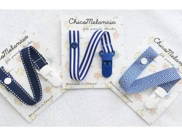 Value Pack - 3 Pacifier Holder | Navy (Plastic Clips)