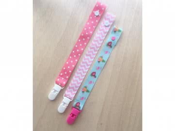 Value Pack - 3 Pacifier Holder | PINK FLAMINGO (Choose the clip)