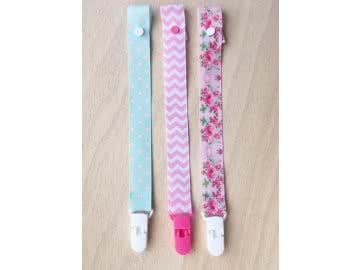 Value Pack - 3 Pacifier Holder | Pink and Green