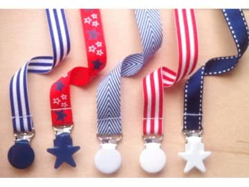 Value Pack -  5 Pacifier Holder | Red and Navy